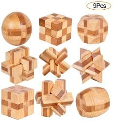 YGZN 9 Stück Denksportaufgaben Cube - Knobelspiele Set