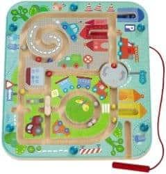 Haba - Magnetspiel Stadtlabyrinth, pädagogisches Holzspielzeug