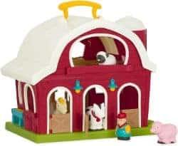 Battat – Big Red Barn – Bauernhof Spielzeug Set mit Tieren