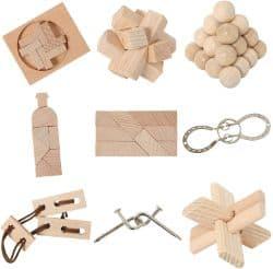 Bartl 111021 9 Knobelspiele aus Holz und Metall