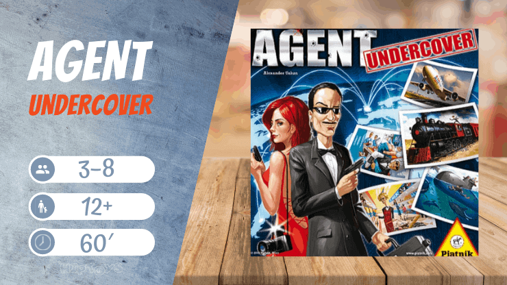 Agent Undercover SPYFALL Brettspiel