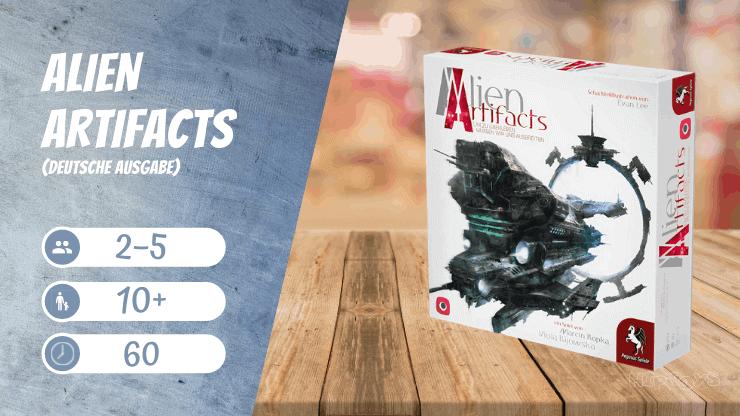 Alien Artifacts (deutsche Ausgabe) Brettspiel
