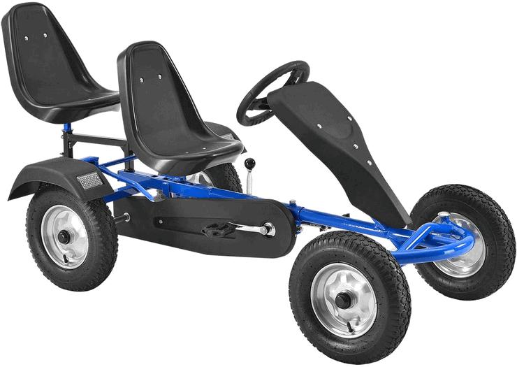 ArtSport 2-Sitzer Gokart mit Schalensitz & Luftreifen