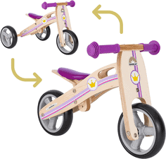 BIKESTAR Mini Kinder Laufrad Holz Lauflernrad mit DREI Rädern für Jungen und Mädchen ab 1 – 1,5 Jahre