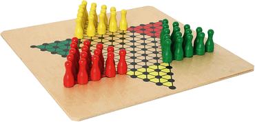 Brettspiel Halma aus Holz für Senioren