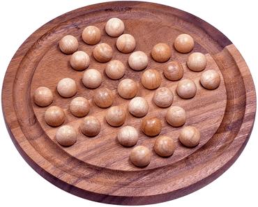 Holz Brettspiel mit Kugeln - Solitär XL