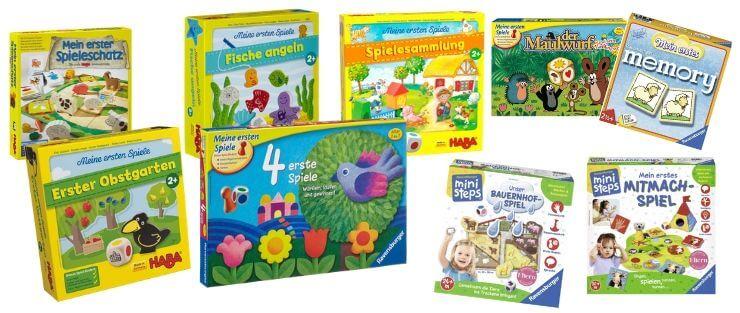 Brettspiele für Kleinkinder ab 2 Jahren