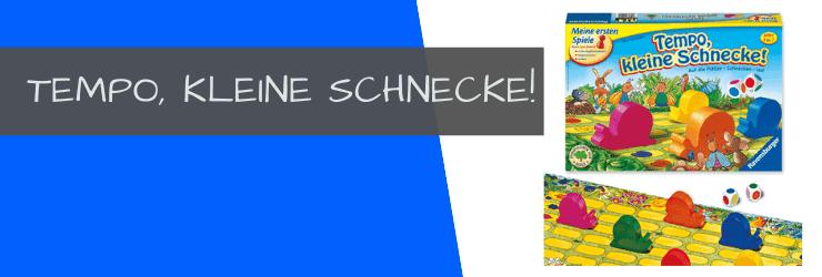 4 ausgezeichnete Spiele ab 3 Jahren von Ravensburger Kinderspiele - Tempo kleine Schnecke
