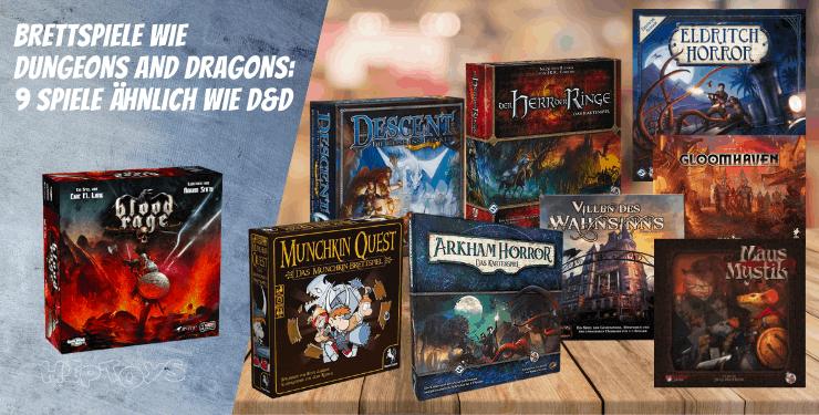 Brettspiele wie Dungeons and Dragons 9 Spiele ähnlich wie D&D