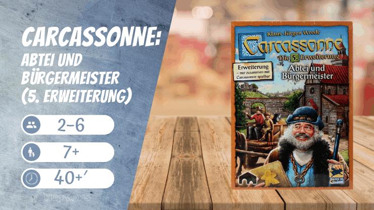 Carcassonne Abtei und Bürgermeister (5. Erweiterung) Brettspiel