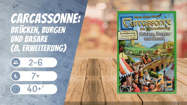 Carcassonne Brücken, Burgen und Basare (8. Erweiterung) Brettspiel