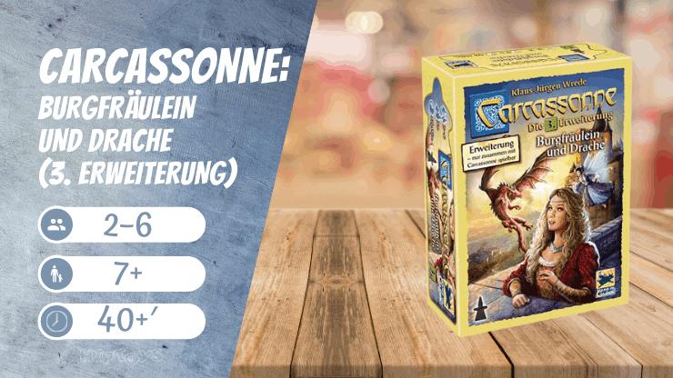 Carcassonne Burgfräulein und Drache (3. Erweiterung) Brettspiel