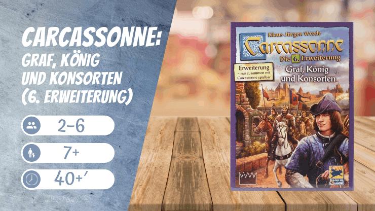 Carcassonne Graf, König und Konsorten (6. Erweiterung) Brettspiel