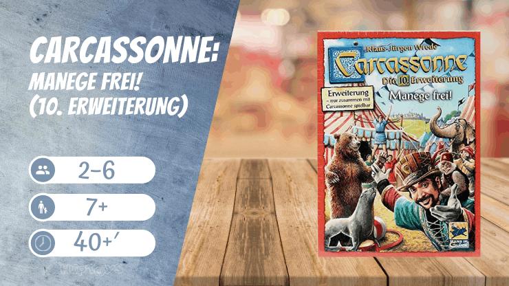 Carcassonne Manege frei! (10. Erweiterung) Brettspiel