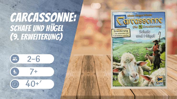 Carcassonne Schafe und Hügel (9. Erweiterung) Brettspiel