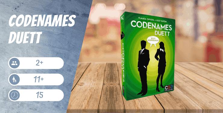 Codenames Duett - kooperative Brettspiele
