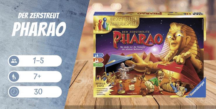 Der zerstreute Pharao Brettspiel