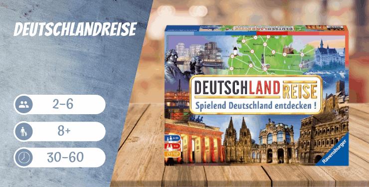 Deutschlandreise Brettspiel ab 8 Jahren