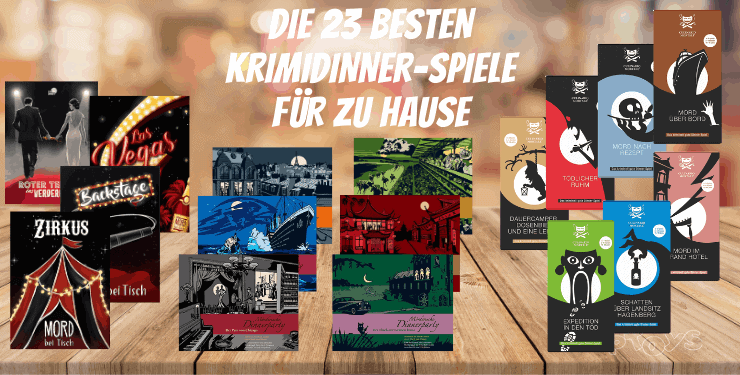 Die 23 besten Krimidinner-Spiele für zu Hause [2021 Ratgeber]