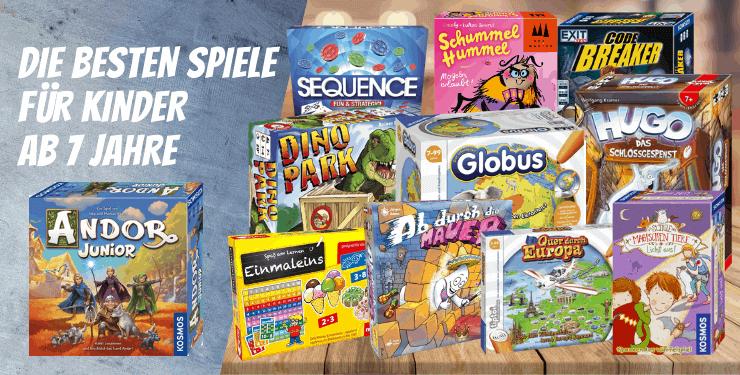 Die BESTEN Spiele für Kinder ab 7 Jahre Spiel-Empfehlung