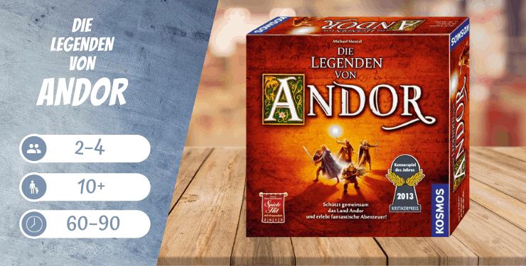 Die Legenden von Andor - kooperative Brettspiele