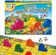 Die besten Brettspiele für Kinder ab 3 Jahren - Tempo kleine Schnecke