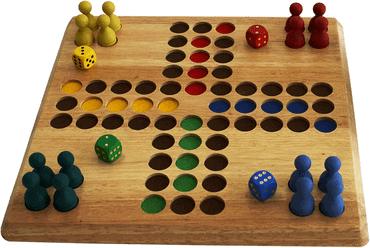 Eine Mensch ärgere dich nicht Spielvariante aus Holz weiblespiele - Ludo  Don't Worry XL