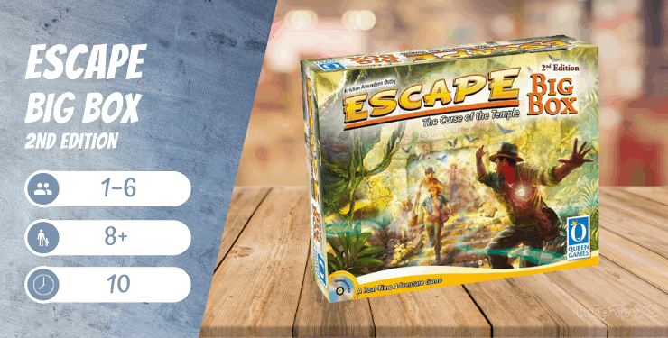 Escape Der Fluch des Tempels - Big Box 2nd Edition Brettspiel