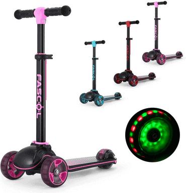 Fascol Kinderroller Klappbar & mit LED Räder