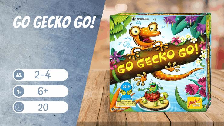 Go Gecko Go! Brettspiel für Kinder ab 6