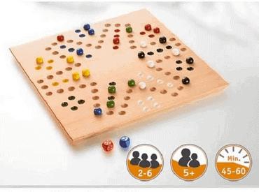 Holz Brettspiel mit Murmeln - Switch