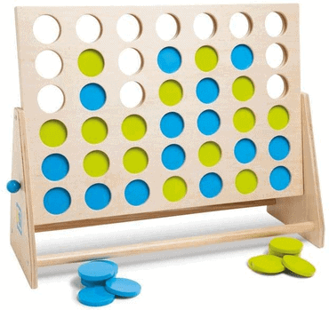 Holz Solospiele für Senioren - Extra große Spiele - Vier gewinnt