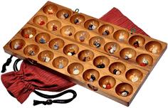 Holzspiele für Erwachsene - Hus - Bao - Kalaha - Bohnenspiel