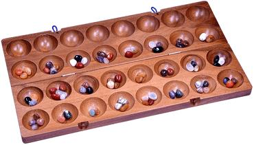 Hus oder Bao Spiel mit 64 Steinen