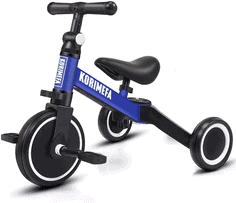 KORIMEFA 3 in 1 Kinder Dreirad Laufräder Laufrad Kinderdreirad Lauffahrrad