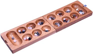 Kalaha - Mancala - Steinchenspiel - Bohnenspiel - Edelsteinspiel