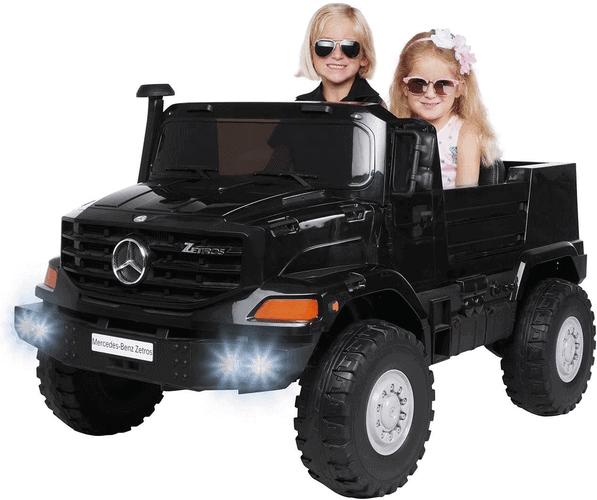 Kinder Elektroauto Mercedes Benz Zetros - Lizenziert - 240 Watt - Ledersitze - Zweisitzer