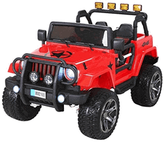 Kinder Elektroauto Wrangler Offroad Jeep Allrad 2-sitzer 4 x 35 Watt 2x 10 Ah Batterie Eva Reifen