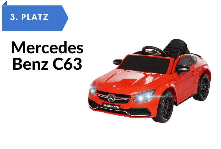 Kinder-Elektroautos zum selber fahren Mercedes Benz C63 - Ledersitz - Elektro Auto