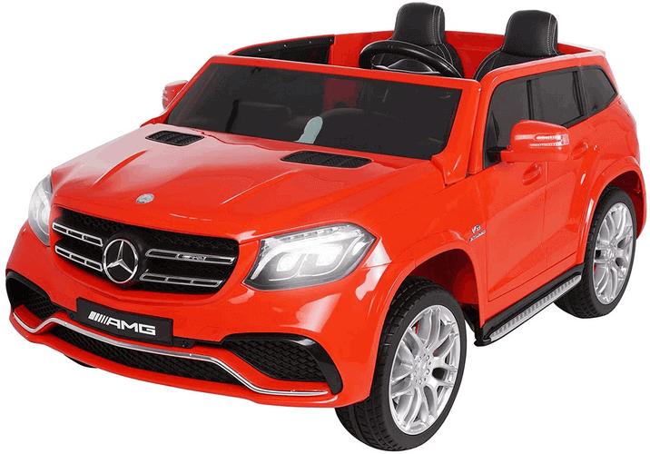 Kinderfahrzeuge zum selber fahren Kinder Elektroauto Mercedes GLS63 - 4 x 45 Watt Motor - Ledersitz - Eva Vollgummireifen