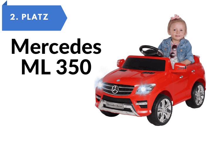 Kinderfahrzeuge zum selber fahren Kinder Elektroauto Mercedes ML 350 - 2X 25 Watt Motor Kinderauto