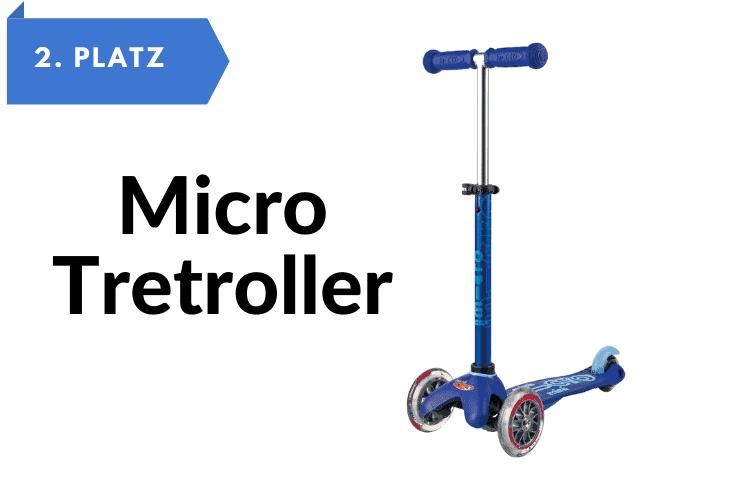 Kinderroller 3 Räder Micro Mobility Mini Micro Deluxe Tretroller