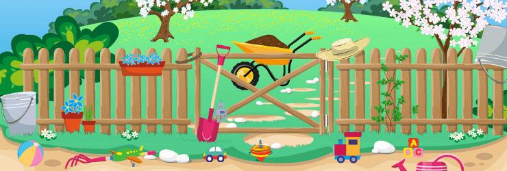 Kinderspielzeug im Garten verstauen - Hiptoys