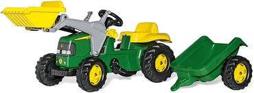 Kindertrettraktor mit Anhänger und Frontlader RollyKid John Deere