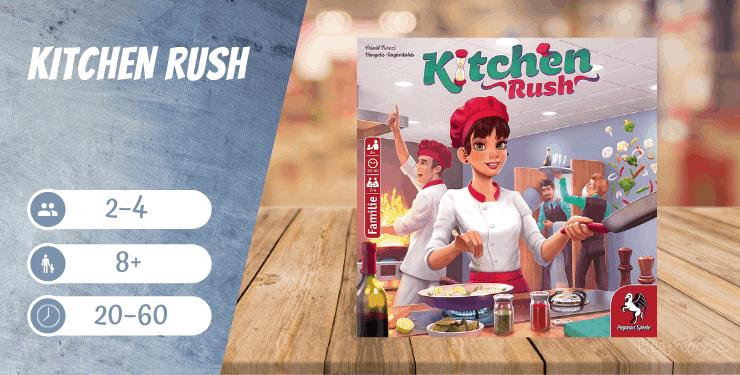 Kitchen Rush Brettspiel für 8-jährige Kinder Und Erwachsene