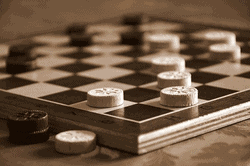 Klassische Brettspiel für 2 - Dame