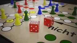 Klassische Brettspiel für 2 - Mensch ärgere dich nicht