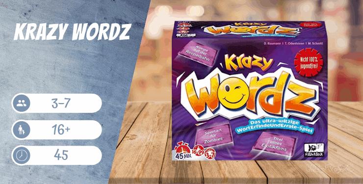 Krazy Wordz Partyspiel für Erwachsene