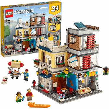 LEGO - Creator 3-in-1-Set Stadthaus mit Zoohandlung & Café