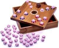 Holzspiele für Erwachsene - Logoplay - Pig Hole Holzspiel - Schweinchenspiel